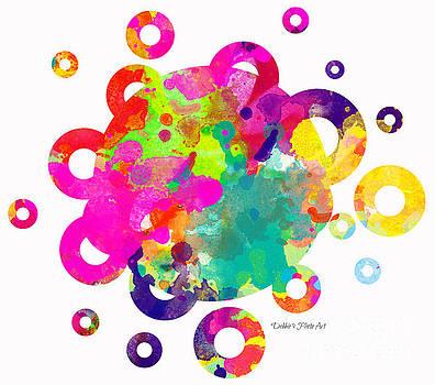 Happy Rings - Digital Art by Debbie Portwood