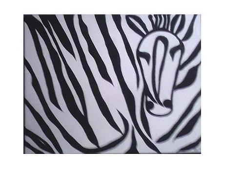 Happy Zebra by Mary Logan jozefik