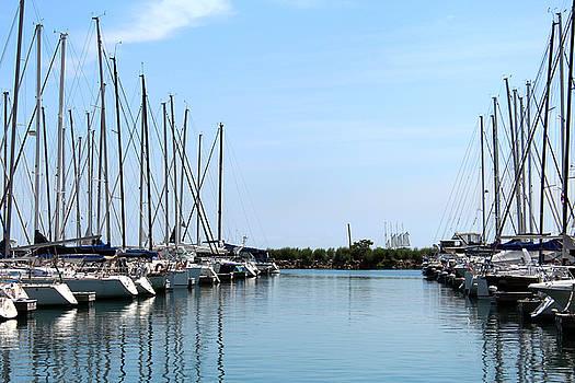 Harbor on Lake Michigan by Carolyn Ricks