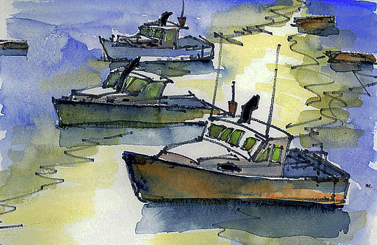 Harbor Reflections by Mary Byrom