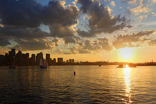 Harbor Sunset Cruise by David Yunker
