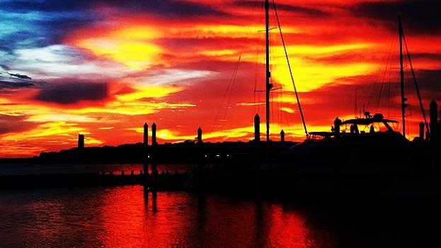 Harbor Sunset by Joseph Frank Baraba