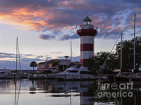 Harbour Town at sunset Hilton Head Island by Louise Heusinkveld