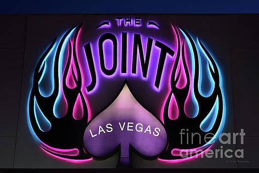 Hard Rock Casino the Joint Pink Blue and Purple Lights by Eric Evans