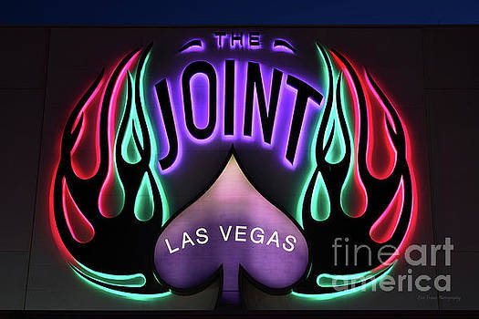 Hard Rock Casino the Joint Red Green and Purple Lights  by Eric Evans