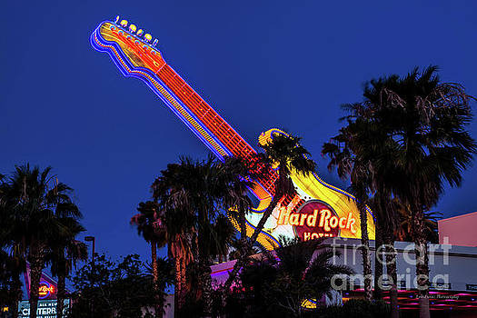 Hard Rock Hotel Entrance Guitar From the East by Eric Evans