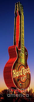 Hard Rock Hotel Guitar at Sunrise 3 to 1 Ratio by Aloha Art