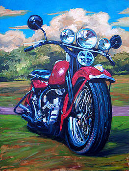 Harley Bike by Dale Knaak