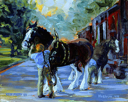 Harnessing the Clydesdales by Ken Fiery