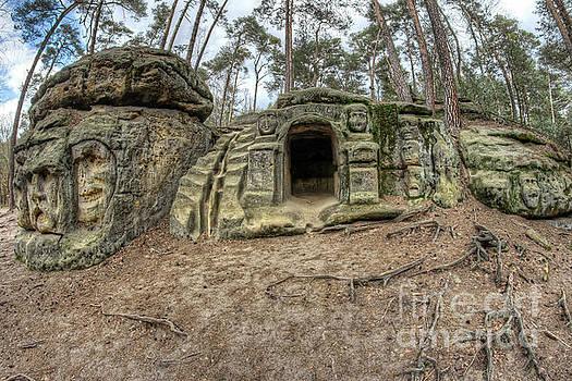 Harpist - Grotto And Rock Sculptures by Michal Boubin