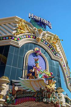 Harrahs Casino Main Entrance  by Eric Evans