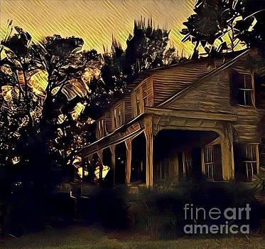 Haunted House at Dusk by Susan Bordelon
