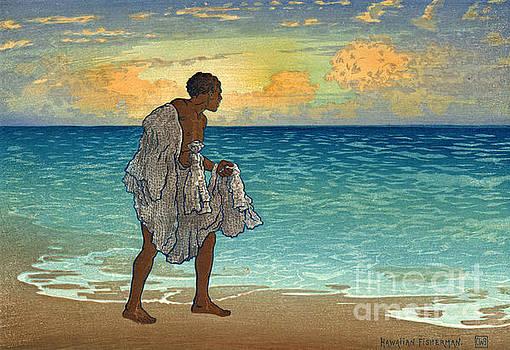 Hawaiian Fisherman 1920 by Padre Art