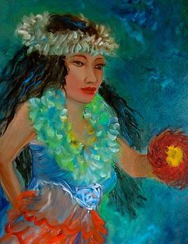 Hawaiian Hula Maiden by Jenny Lee