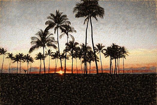 Cindy Boyd - Hawaiian Sunset Rock Painting
