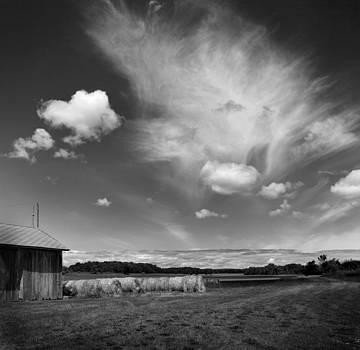 Hay Field on Clarks Lake Road by Stephen Mack