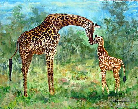 Haylee's Giraffes by LaVonne Hand