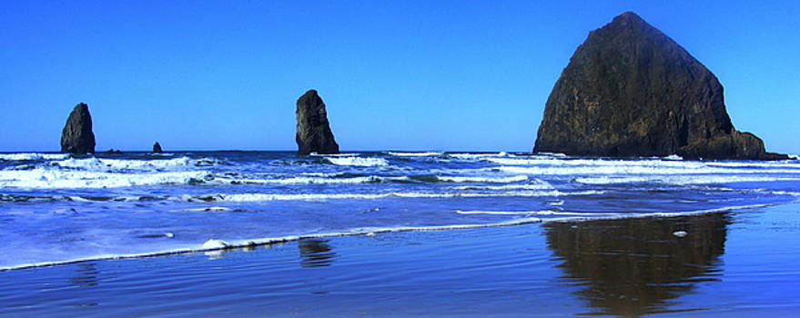 Haystack Rock Panoramic by Steve Patton