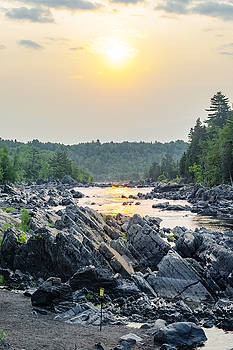 Hazy Morning River by Kelly Anderson