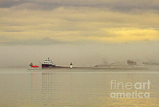 Heading out into the fog by Jamie Rabold