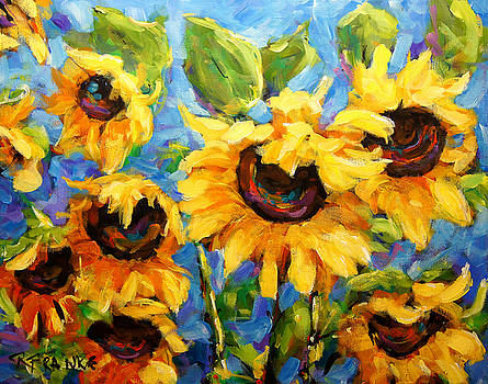 Healing light of Sunflowers by Richard T Pranke