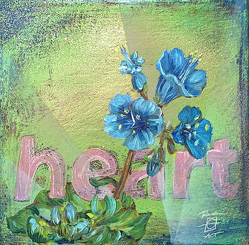Heart Blue Wildflower by Andrea LaHue