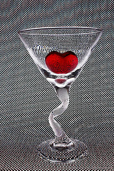 Heart Filled Glass by Vicki McLead
