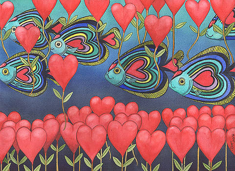 Heart fish by Catherine G McElroy