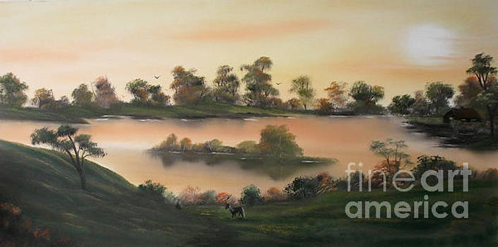 Heavenly Morning in Autumn by Cynthia Adams