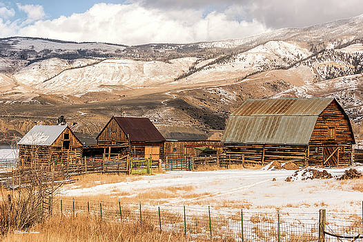 Heeney Road Barns and Snow by Stephen Johnson