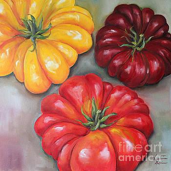 Heirloom Tomatoes by Kristine Kainer