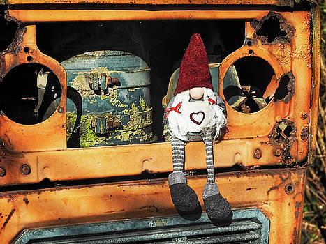 Helga On The Tractor by Susie Peek