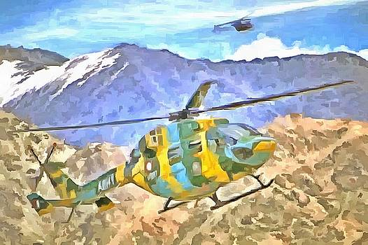 Helicopter coming and going by Ashish Agarwal