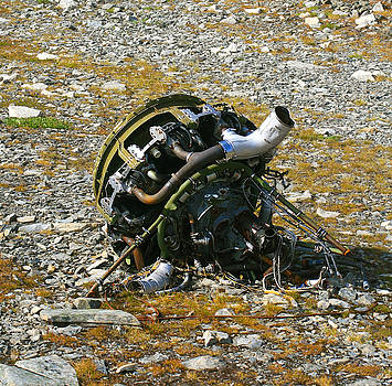 Helicopter Engine Wreckage by Wyatt Rivard
