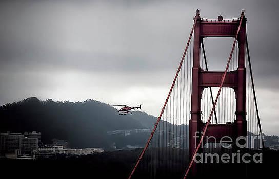 Chuck Kuhn - Helicopter Golden Gate Bridge SF