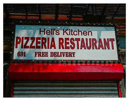 Hell's Pizza 10th Ave. by New York City Artist - Alexander Aristotle