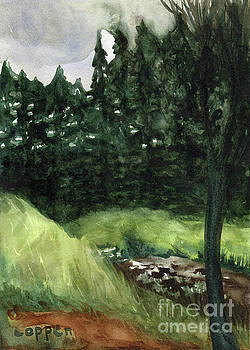 Hemlocks and the Creek by Robert Coppen