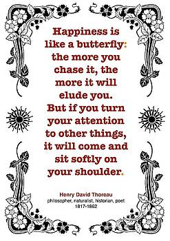 Henry David Thoreau about Happiness by Zalman Latzkovich