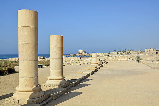 Herodian Ruins at Caesarea National Park by Bruce Gourley