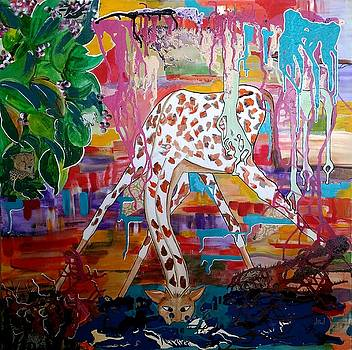 Hettie at the Water Hole by Jan Steadman-Jackson