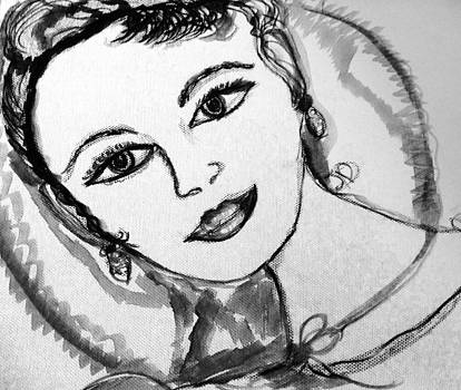 Hey I am Miranda just a doodle  by Judith Desrosiers