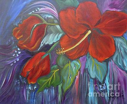 Hibiscus Whimsy by Jenny Lee