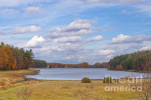 Higby Reservoir In Fall by Marcel  J Goetz  Sr