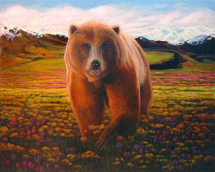 High Meadow Grizzly by Charles Wallis