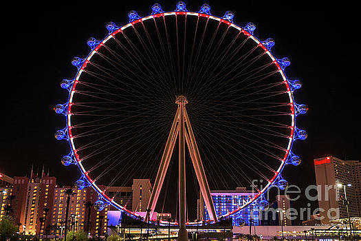 High Roller Red White and Blue Lights  by Eric Evans