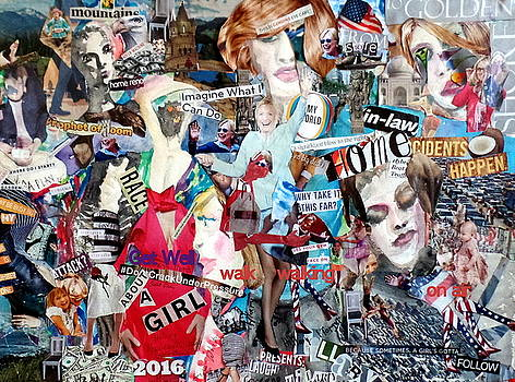 Hillary Clinton Get Well/Campaign Poster by Barb Greene Mann