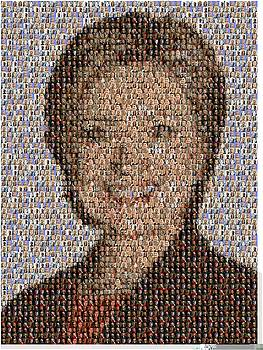 Hillary Mosaic by Paul Van Scott