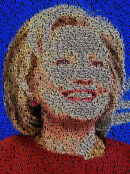 Hillary Presidents Mosaic by Paul Van Scott