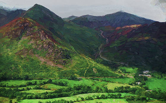 Hills and valleys by Ron Harpham
