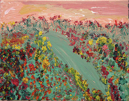 Hillside Flowers by Karen Nicholson